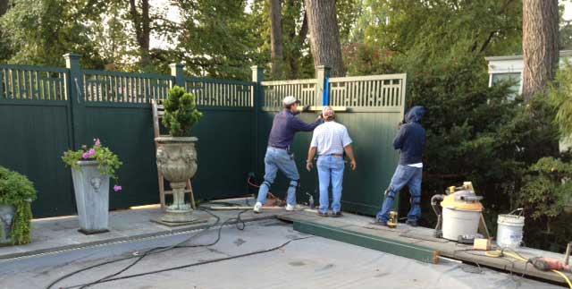 installing custom wood garden fence panels #9 in Washington DC