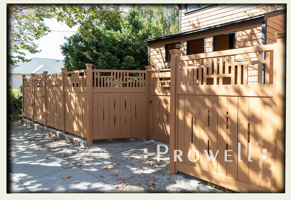 Craftsman wood fence #9-6 in Berkeley, CA. Prowell woodworks