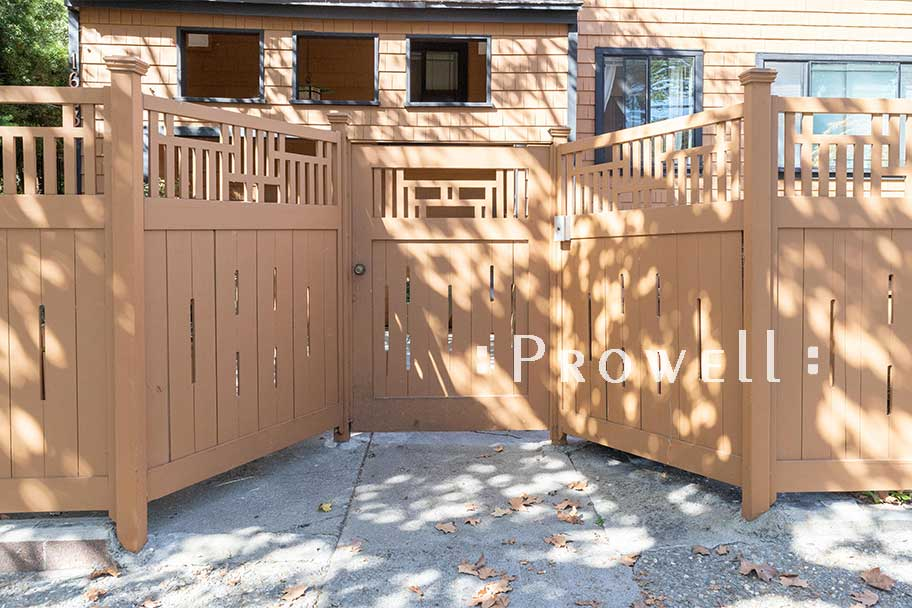 Craftsman Wood Fence #9-6b in Berkeley, CA. prowell woodworks