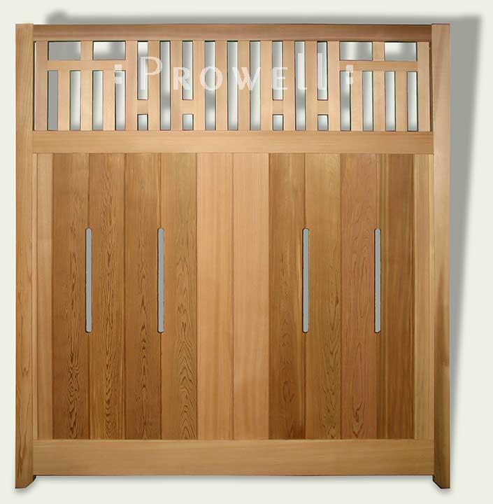 custom wood fence panels #9