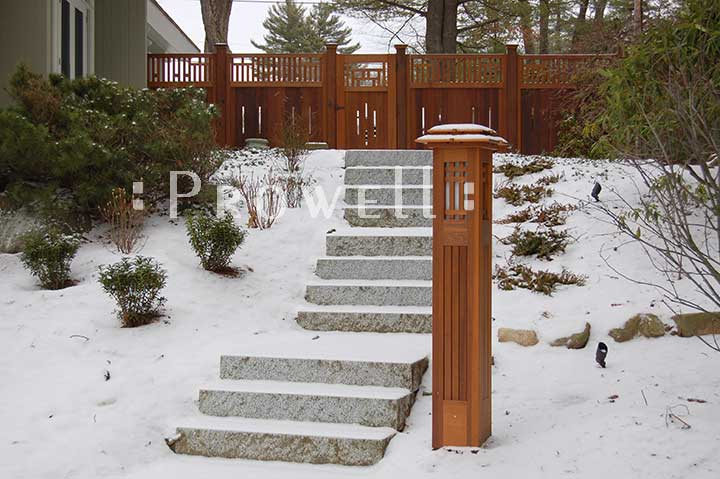 wood Garden Fence #9 in Andover, MA