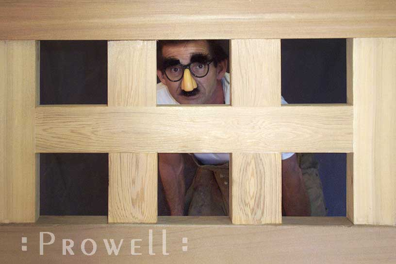 humorous image showing gate #52-3 and charles prowell in disguise.