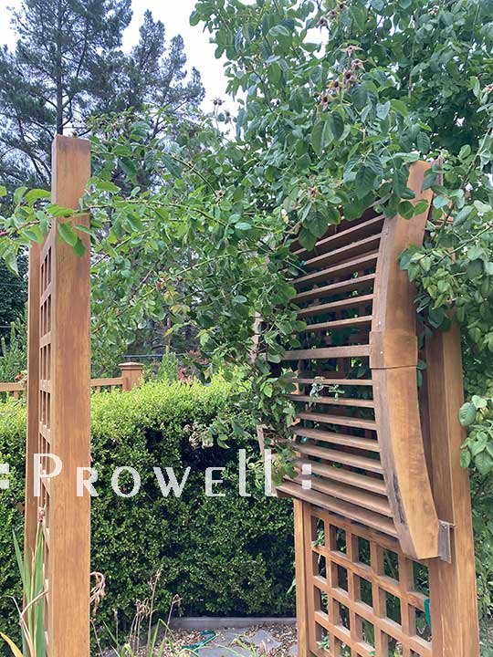 problems with installing wood arbors. prowell
