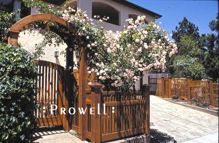 Fout-Post wood gate arbor #15 in Marin County, CA