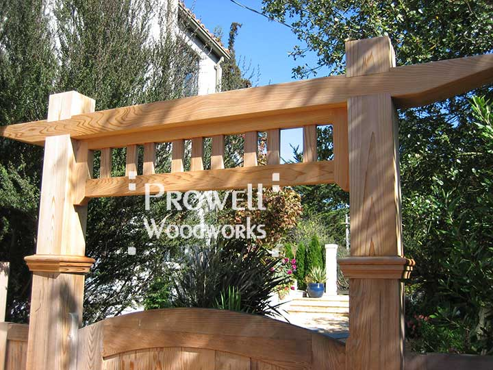 Custom wood gate arbor #1-3 by prowell