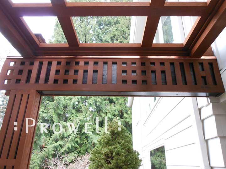wood garden arbor trellis in Portland by Prowell