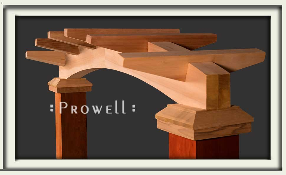 climbing rose wood arbor by Prowell