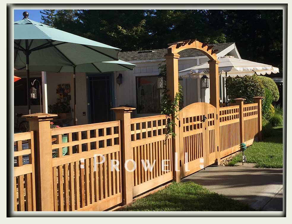 custom wood garden arbor #8-3. prowell