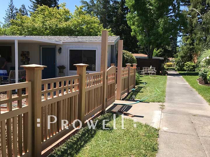 custom wood arbor 8-3aa in napa county, CA. prowell