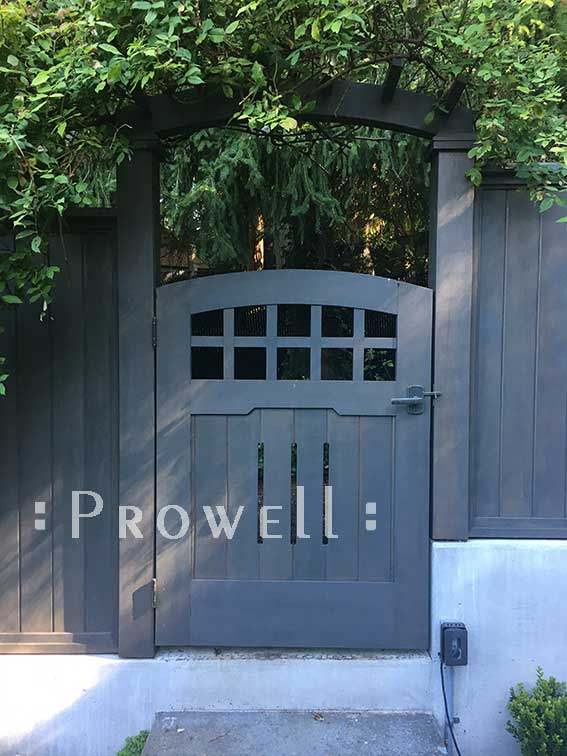 wood gate arbor #8 in Washington state. prowell