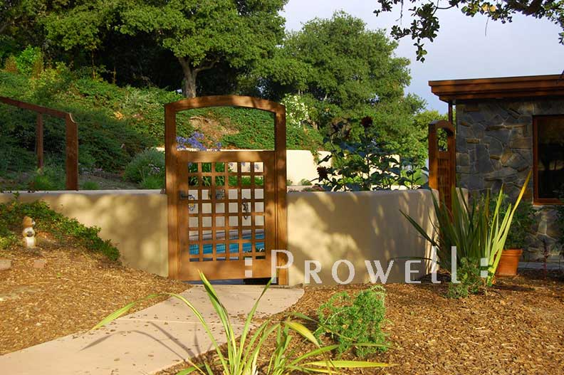 custom wood arbor 9-2, Monterey, CA