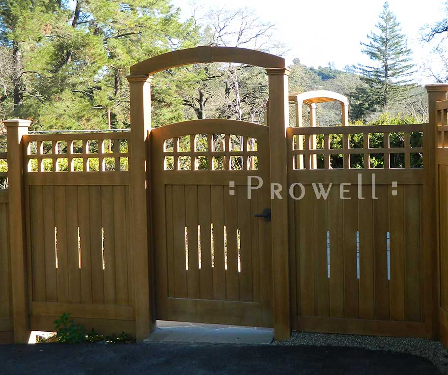 custom wood gate arbor #9 from Prowell