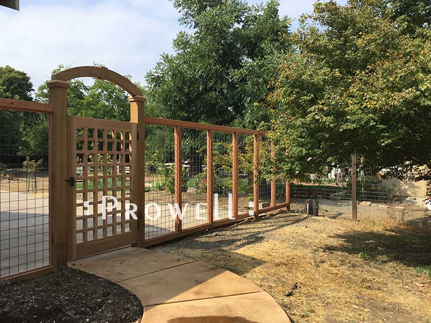 wood arching arbor #9-4/. Prowell