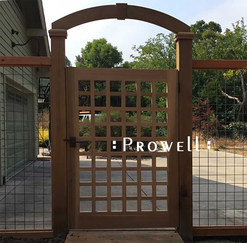 custom wood arched arbor in the Bay Area. Prowell