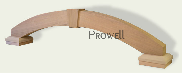 wood arch gate arbor. prowell