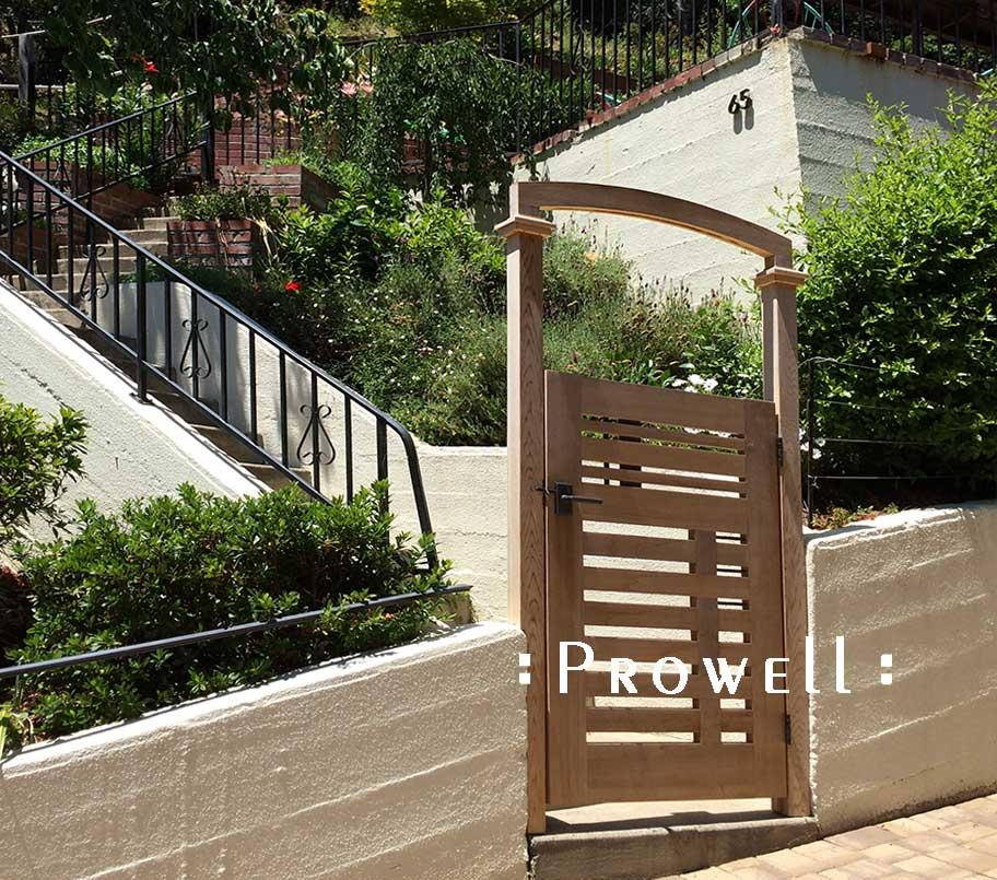 custom wood gate arbor #9-5. prowell