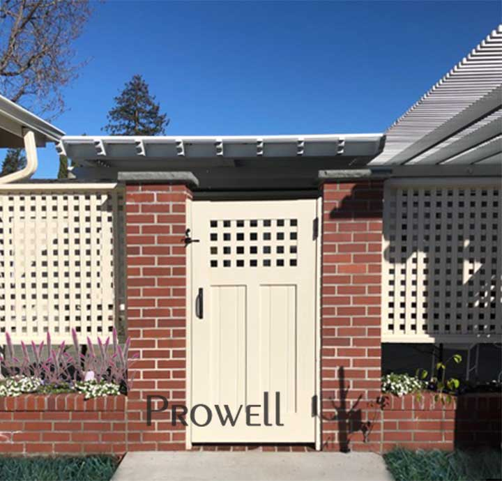 site photo of wood fence gate #103-4 in palo alto, california