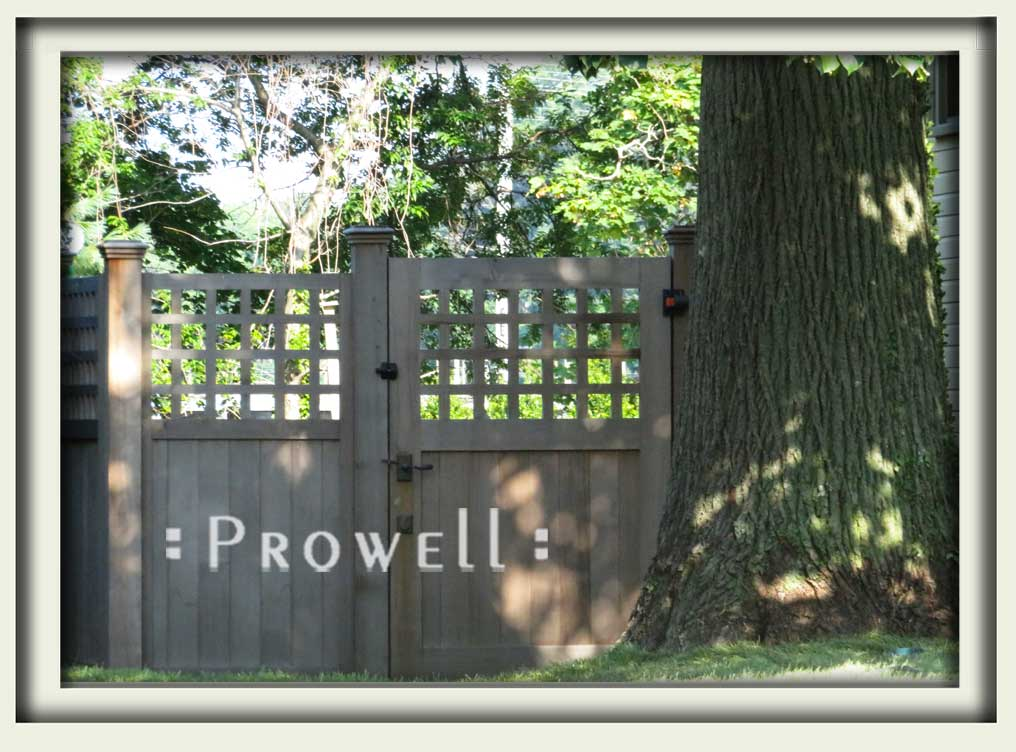 site photo showing the wood fence gate #103-5 in New Jersey