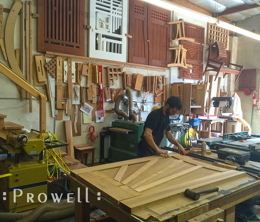 woodworking shop photo showing how to build a gate #107