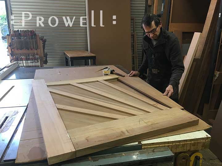 building wood gate #107-3. Prowell