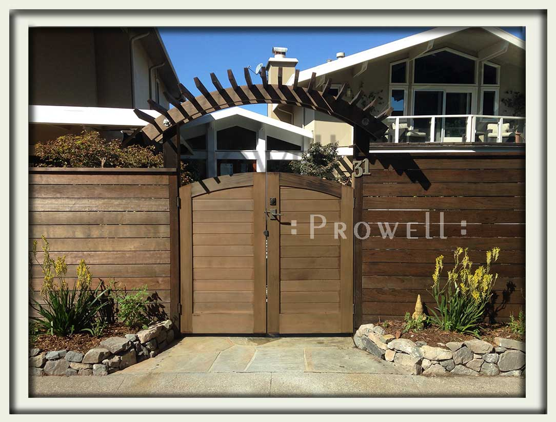 site photo showing security privacy gates #180-1 in San Rafael, california