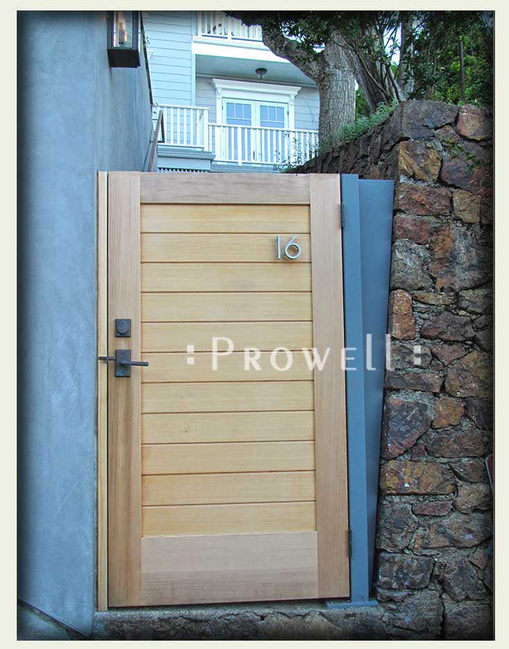 site photo showing security privacy gates #108-3 in Sausalito, California
