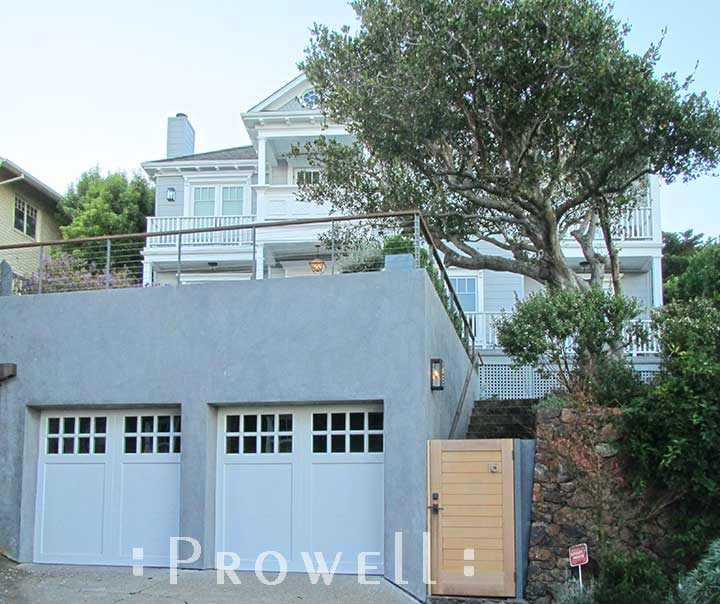 another site photograph showing the renovated homes in Sausalito, with the privacy security gates #108-3