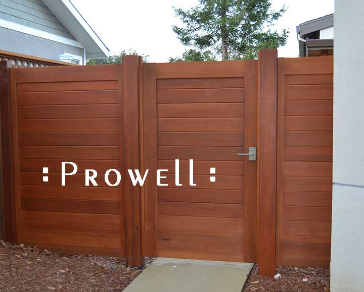 site photograph showing wood privacy gate #108 in Mill Valley, California