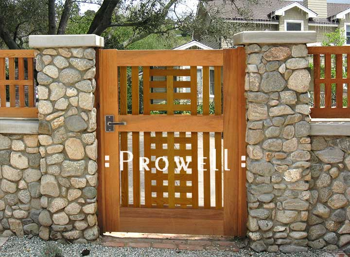 site photograph showing wooden gates #10-1 in Los Angeles, California #10-1