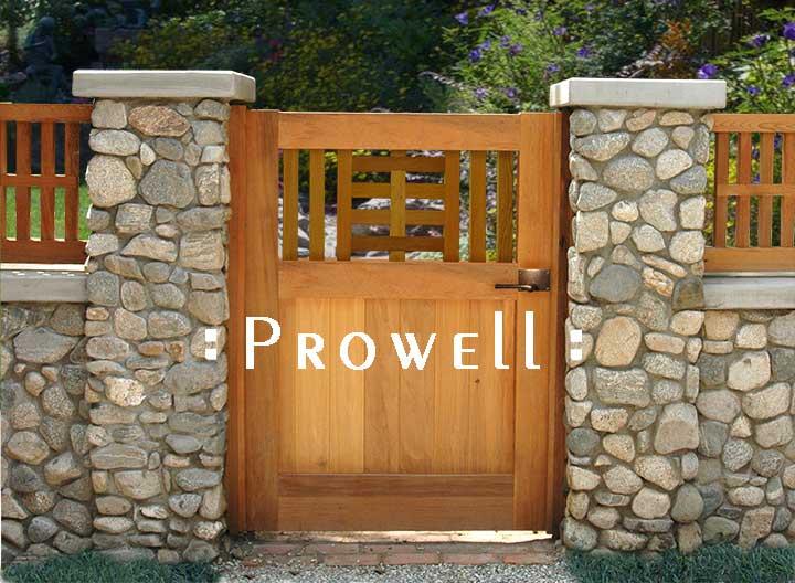 site photo showing gate design #10-3 in pasadena, california.