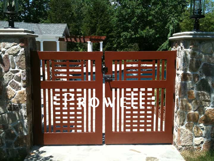 Another site photograph showing gate design #10-5 in New jersey.