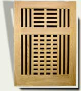 Open Grid Wood Garden Gate #10