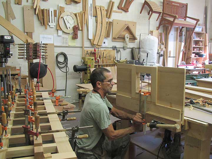 sphoto in the woodworking shop showing how to build the #112