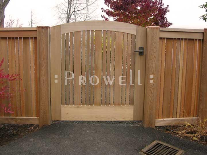 Custom wood garden gate #113-1 in Olympia, WA