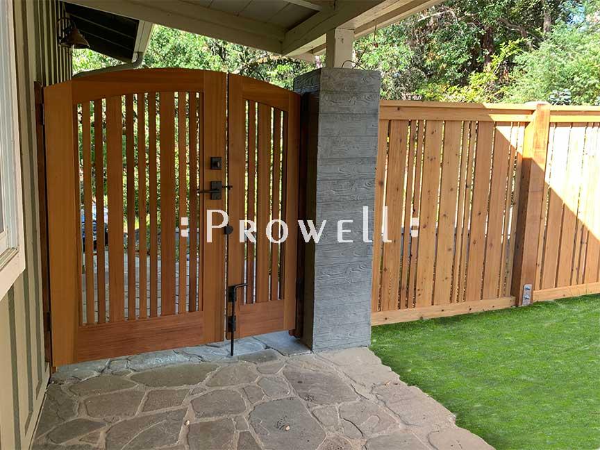 custom wood garden gate #113b in Lafayette, CA. prowell