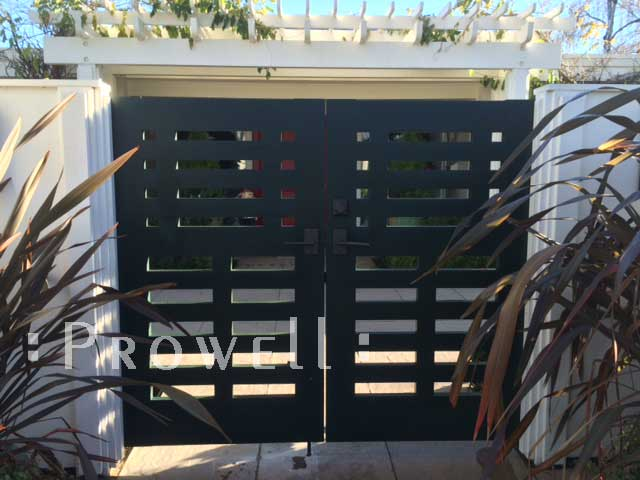 site photo showing the double entry gates #114-2 in Seattle, Washington