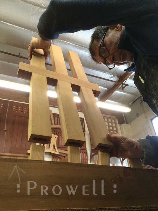 Shop photo showing how ti build the #114 wooden gate
