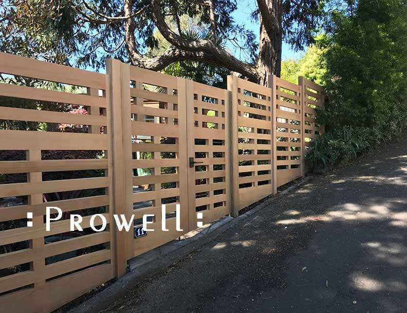 site photograph featuring the custom gates wood #114-5 in Marin County, californnia