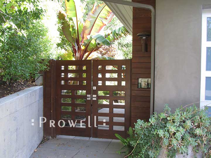 site photograph showing the double entry gate #114 in Tiburon, California