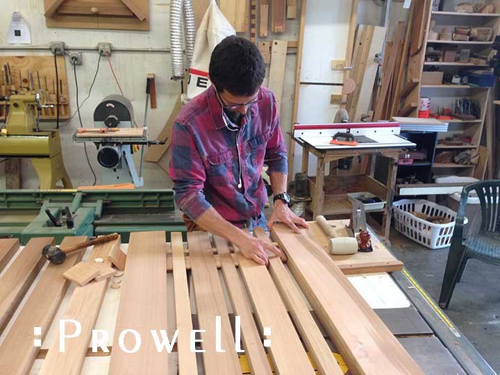 shop photo showing how to assemble the contemporary garden gate #115