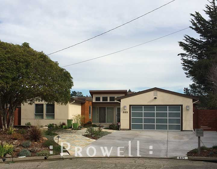 site photograph showing contemporary garden gate #115-2 Mill Valley, California