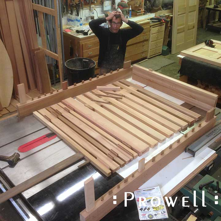 Photograph showing Prowell with the contemporary design #115 in the shop