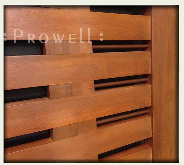 cropped image showing a close-up of the modern garden gate #115-2wood joinery for wood gates