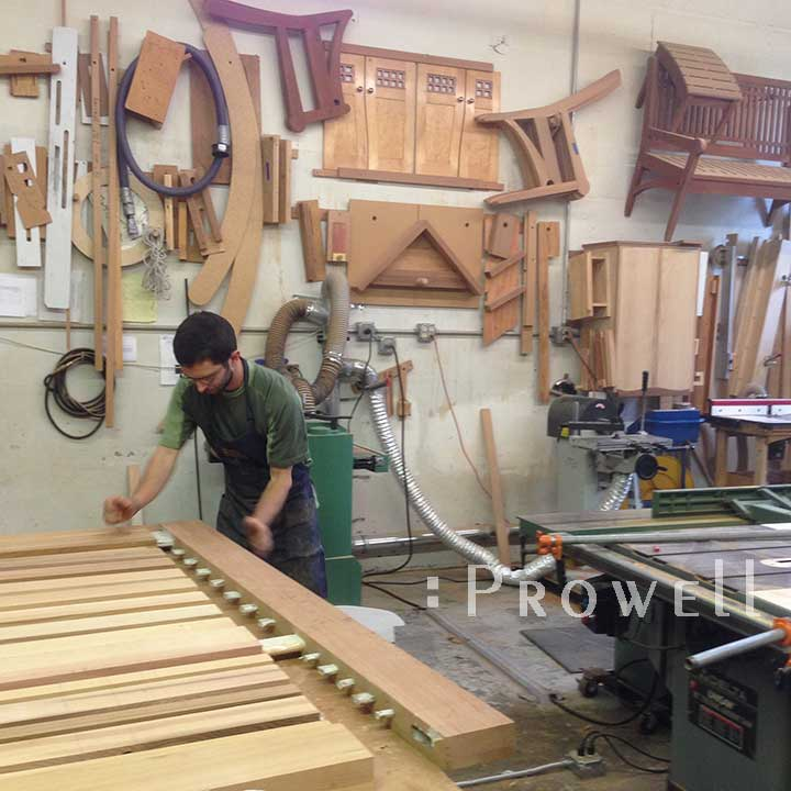 photo showing the final assembly of wooden gates #115