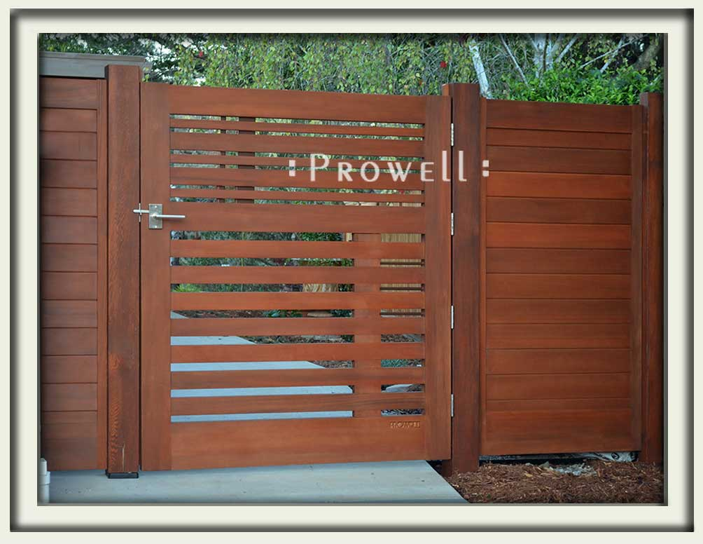 site photograph showing the modern garden gate #115-2 in Mill Valley, California