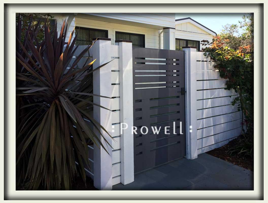 site photograph showing contemporary garden gate #115-4 in Tiburon, California