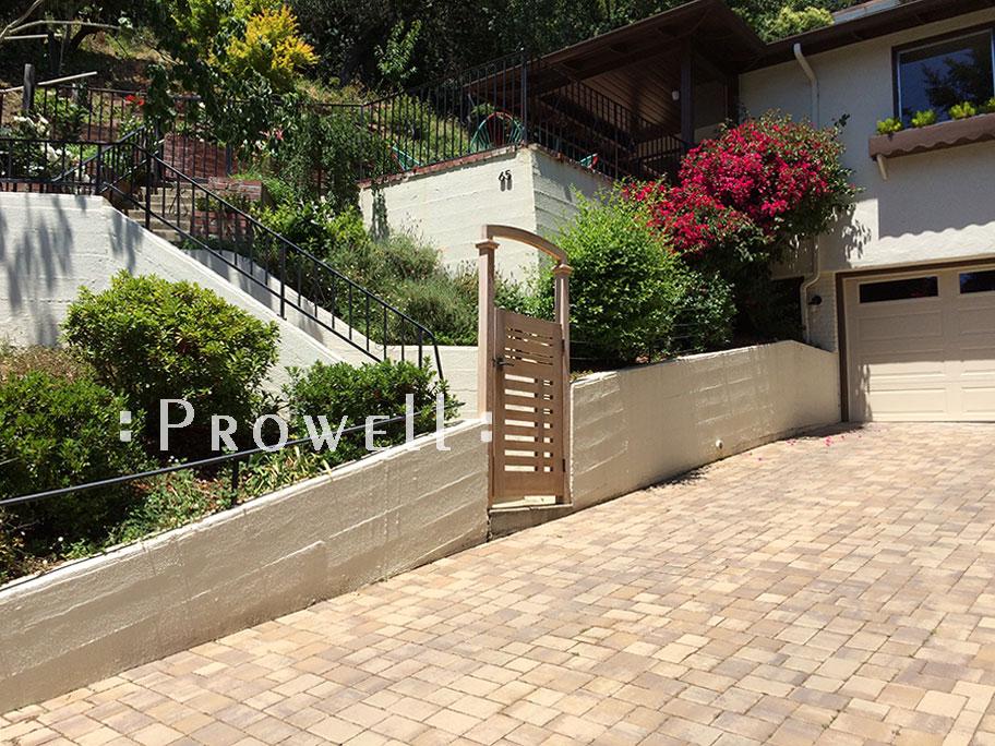 site photograph showing Modern Garden Gate 115. in Marin county, california