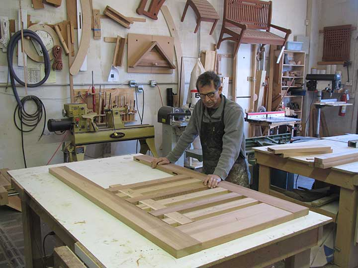 shop photo showing how to build the wood gate #115