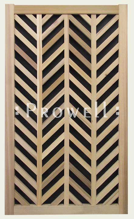chevron pattern custom gates in Marin county