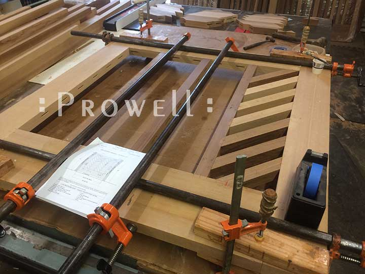 shop photo showing building wood gate #11. Prowell